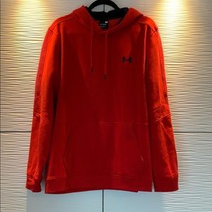 Under Armour Threadborn Ribbed Hoodie Red Size XL